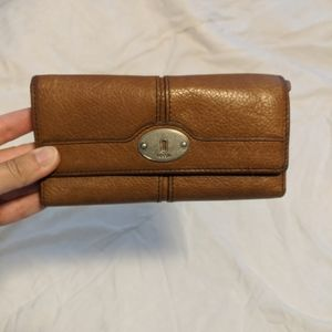 Genuine leather Fossil trifold wallet